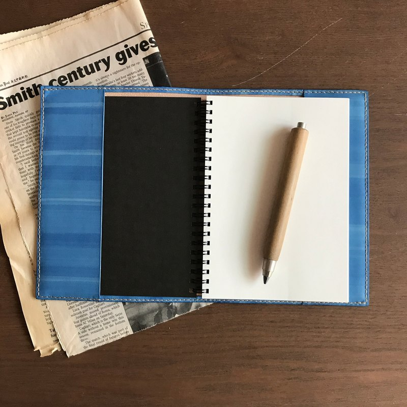Leather book cover │ MUJI B6 size │ minimal version │ sky blue │book jacket