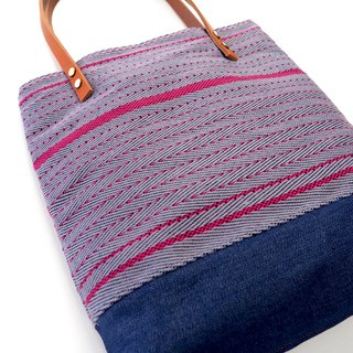 Hand-woven shoulder bag tote bag