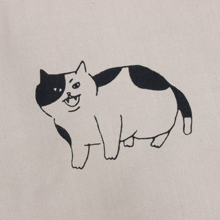 Fat cat stitching top - blue cat