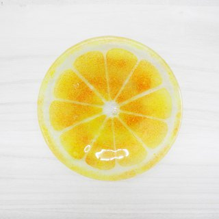 Highlight Comes Again - Lemon Glass Plate / Summer Series - Lemon Yellow