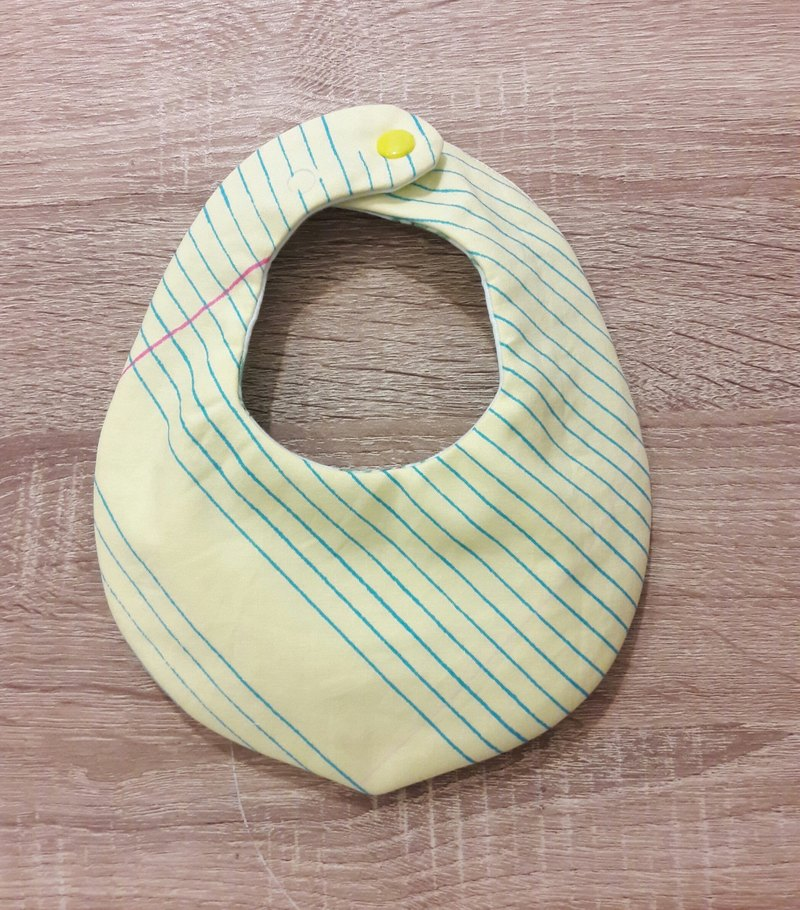 Yellow paper mouth scarf bib