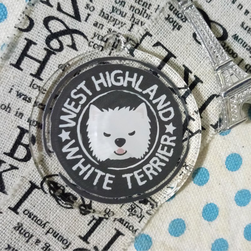 Big head LOGO-West Highland White Terrier ~ (single layer) acrylic charm (without key ring)