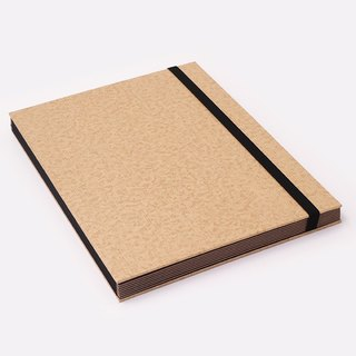 Three summer light years classic solid color strap books section DIY album creative gifts large rectangle (cowhide)