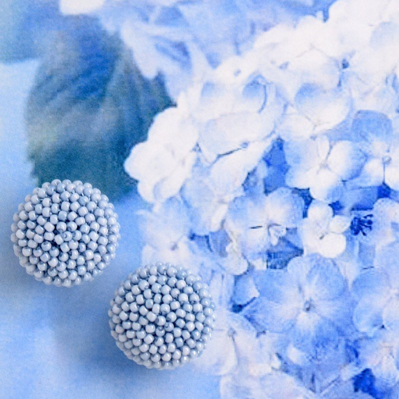 Classic Gu Lizhu Earrings - L-501 Sky Blue