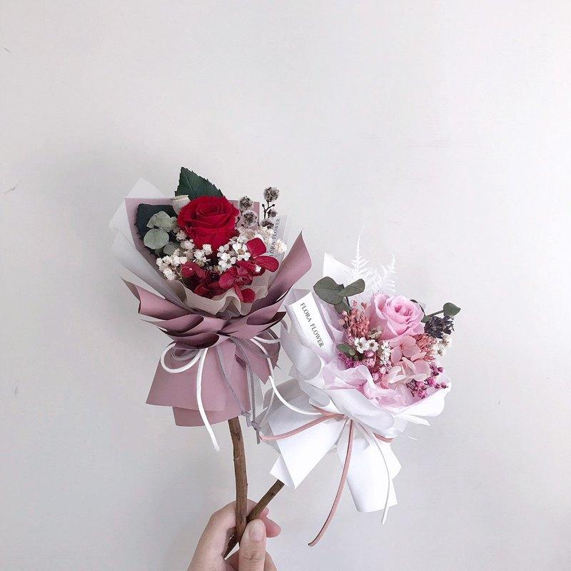 單朵玫瑰花束 永生花  單枝玫瑰  七夕