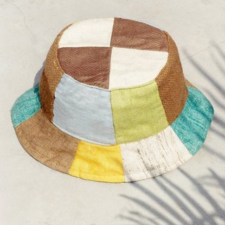 Tanabata gift limited a natural forest wind splicing hand weaving cotton hat / fisherman hat / sun hat / patch cap / handmade cap / mountaineering cap - fresh forest national fisherman hat
