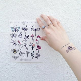 Wildflower Temporary Tattoos / Temporary Tattoo Set / Floral Tattoos