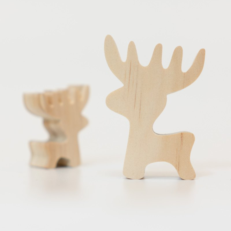 wagaZOO thick cut shape building blocks forest series - small elk