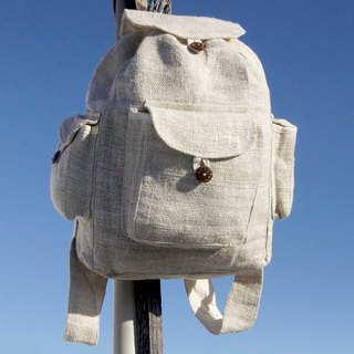 Valentine's Day gift Mother's Day gift birthday gift limited handmade cotton stitching design backpack / shoulder bag / mountaineering bag / patchwork bag / cotton backpack / bag - simple milk white natural color tone