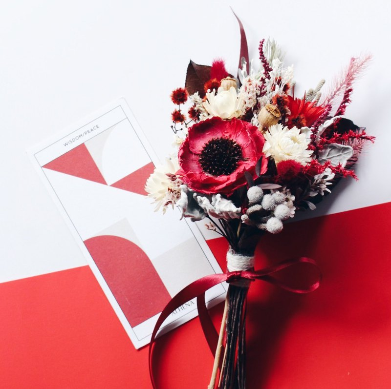 Dry Flower Bouquet!!【Wise Goddess-Athena】Dry Flower Bouquet Valentine's Day