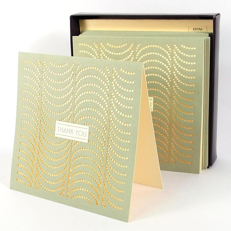 Box Card - Hollow Dots 10 Into [Hallmark - Card Multipurpose]