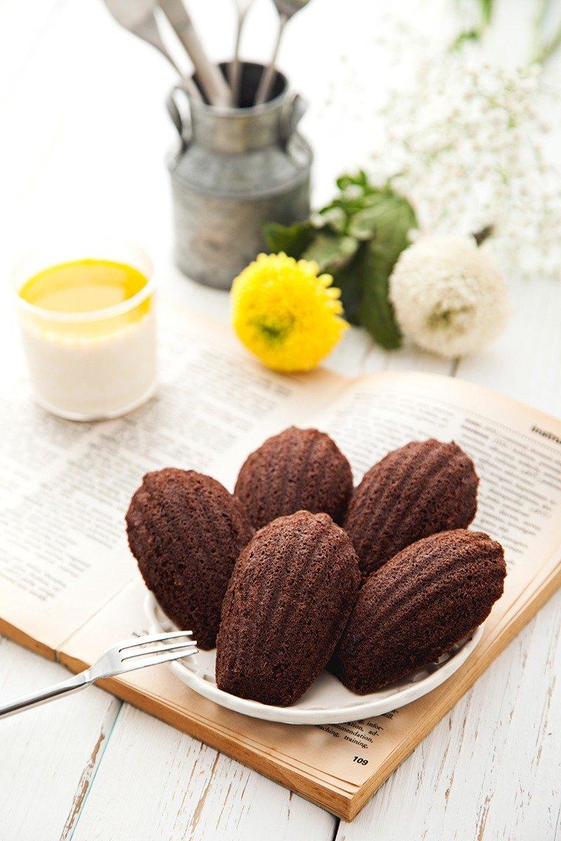 濃郁巧克力瑪德蓮12入#綿密濕潤#法式糕點#頂級法芙娜可可