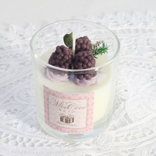 Christmas Gifts, Blackberry Cheese Glass Fragrance Cup 150g
