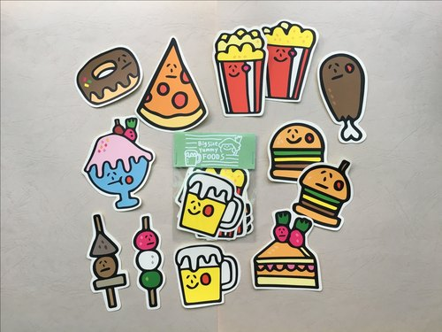 Giant food sticker group