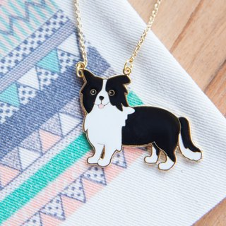 Border Collie Handmade Long Necklace