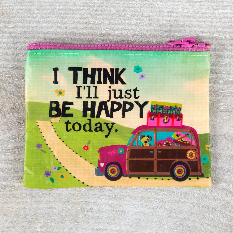 Environmentally friendly material coin purse - Be Happy