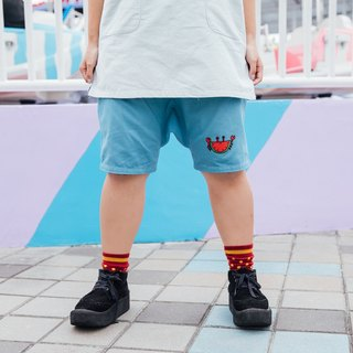 Loose Skirt Pants/ Watermelon Crab Blue