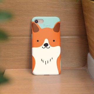 iphone case cute orange smiley dog for iphone 6,7,8, iphone xs, iphone xs max