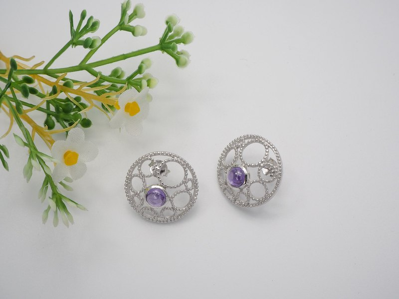 Sterling silver multi bubble earring