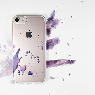 Optima iPhone 8/7 TPU thin protective case splashing purple