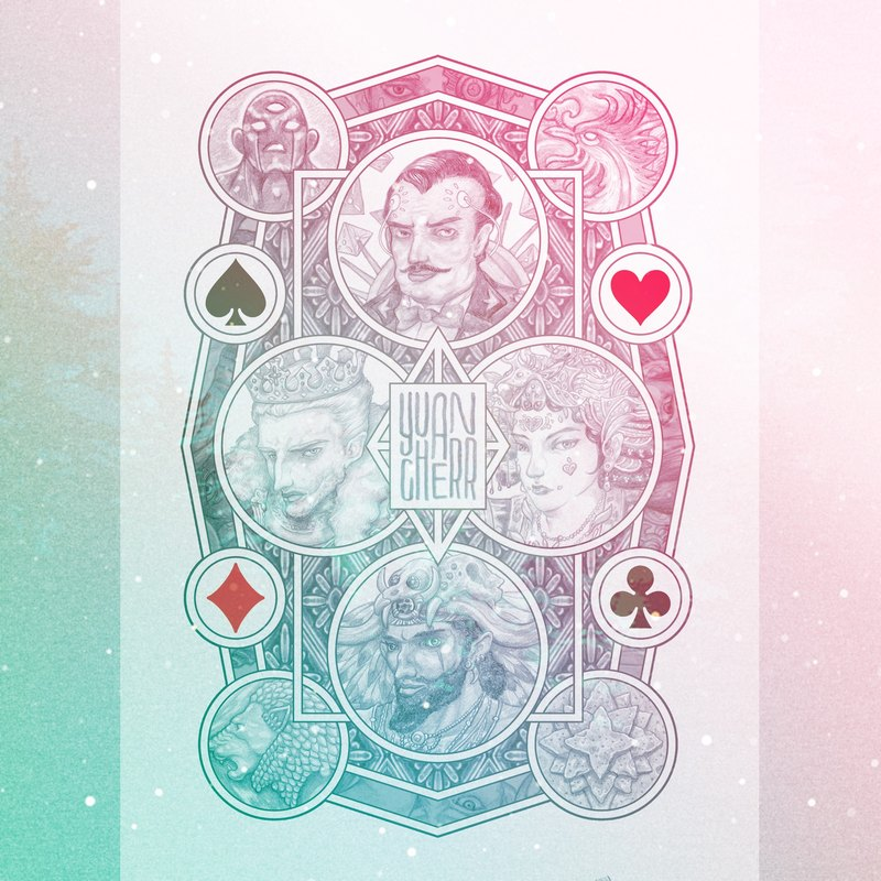 Christmas gift special. Four Kingdoms Card - Illustrator Creation Poker X2. Send gifts and play by yourself.