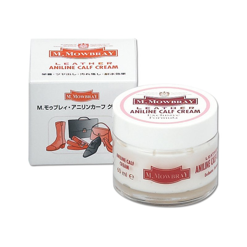 Mowbray calf leather maintenance oil leather oil shoe polish M.MOWBRAY Aniline Calf Cream