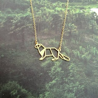 Otter, Origami Necklace, Animal Necklace, Otter Gifts, Gift for Animal Lover