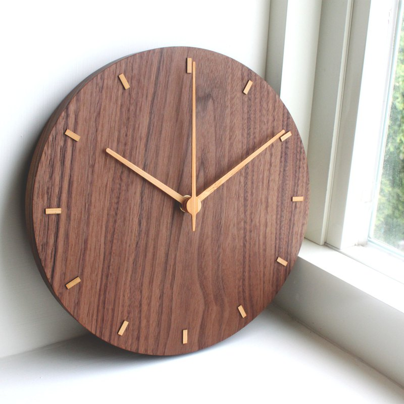 CLOCK_26 Taiwan hand made limited mute wall clock black walnut