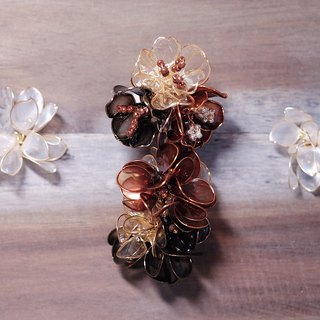 Hanakin flower gold Flamenco 玳瑁 hand made jewelry earrings single
