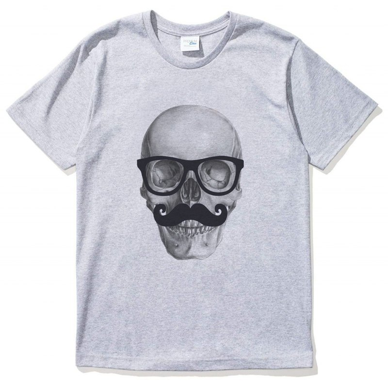 Mr Skull unisex gray t shirt