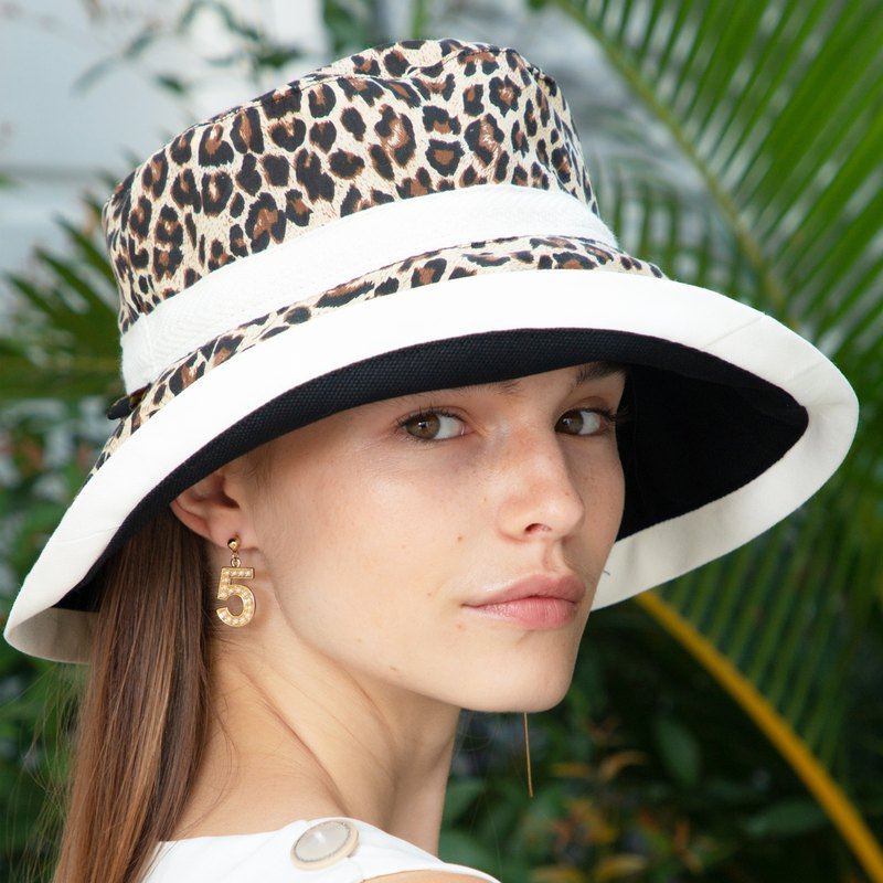 ATIPA Luxury Reversible Leopard Wide Brim Signature ATP Hat (Sun UV Protection)