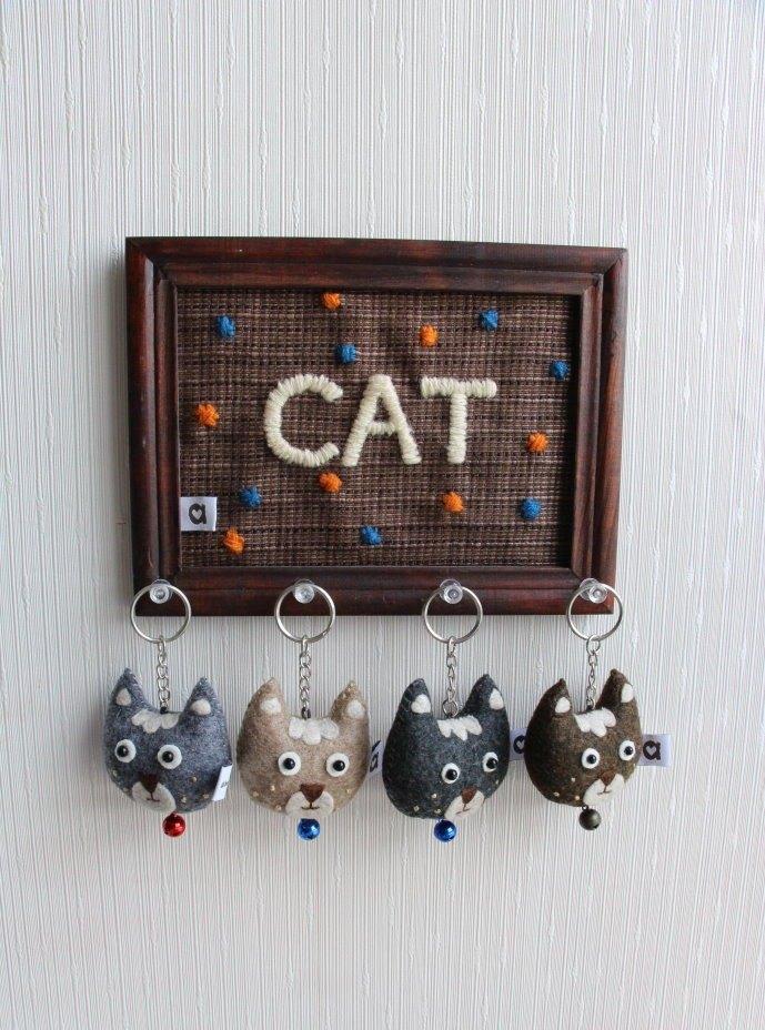 小展覽 糰子小貓顆顆 手縫吊飾鑰匙圈│abbiesee