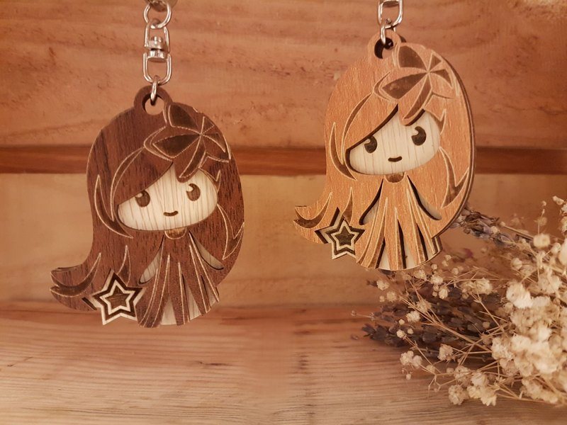 "Taiwan stack ""my zodiac! My life! ""[Customization] Wood carving constellation - Virgo gift / key ring"