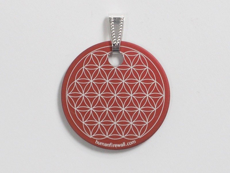 Anti-Electromagnetic Radiation Pendant - Flower of Life (Red)
