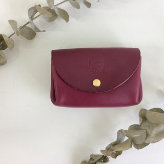 Graduation gift charming purple elegant wrinkled bag _ leather hand stitched Burgundy Case