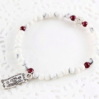 Surprise white turquoise bracelet