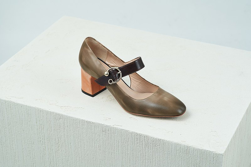 HTHREE 6.5瑪莉珍高跟鞋 /可可 / cocoa/ 6.5 Mary Jane Pumps