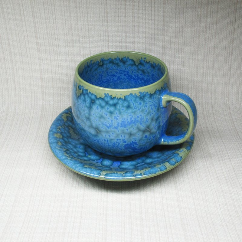 [Series] crystalline glaze cup coffee cup set ceramic mug (blue water)
