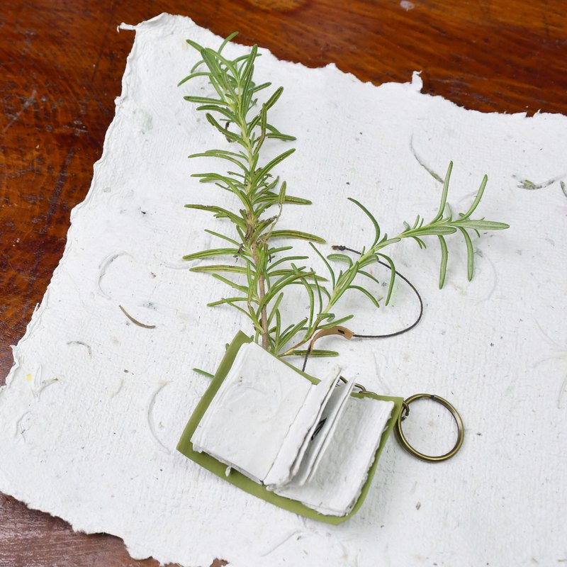 Small rosemary book hanging decoration