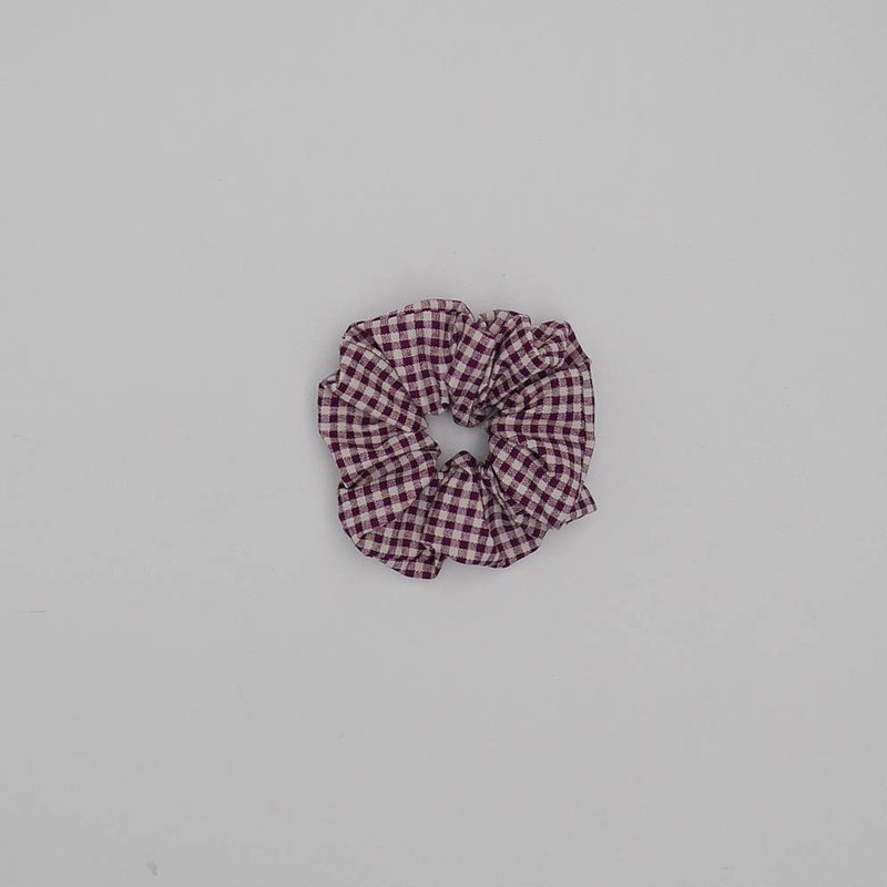 Purple check temperament hair ring