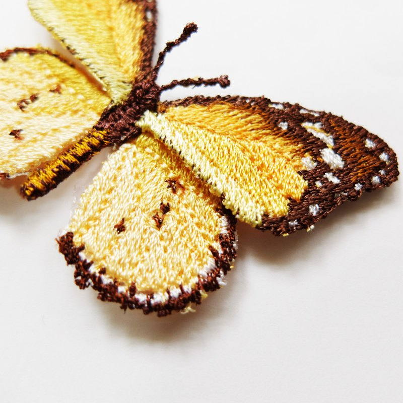 Embroidery Butterfly Brooch / Plain Tiger Butterfly (medium)