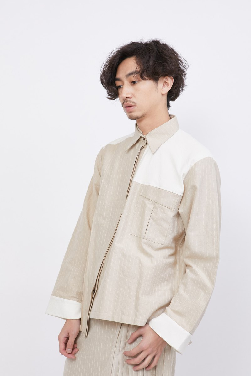 Crossbody Long Sleeve Shirt_Vanilla Shake_Fair Trade