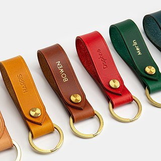 GOURTURE Italian Buttero Vegetable Leather Classic Leather Keyring - KR01
