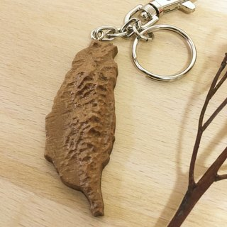 Wooden wood for mini-Taiwan key ring - walnut wood models