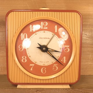 Old bones Jantar mechanical alarm clock VINTAGE
