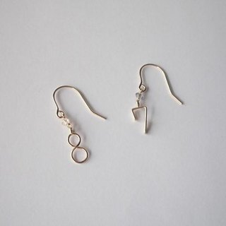 Number (number) hook earrings