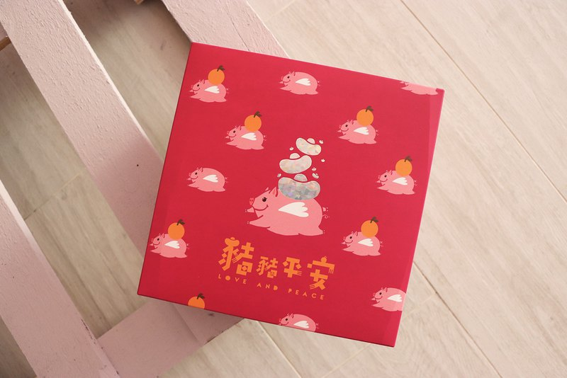 TMH-Pig Pig Peace Spring Festival with Hand Gift 480 Coffee Dessert Gift Box