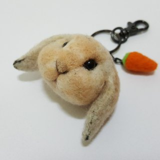 Felt felt rabbit rabbit big head Meng Q version to be customized custom key ring / pin short haired rabbit area