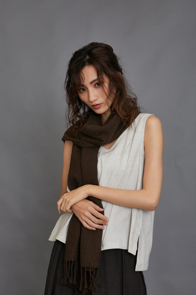 yak shawl-brown-fair trade