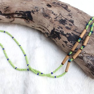 Bamboo series glasses chain green